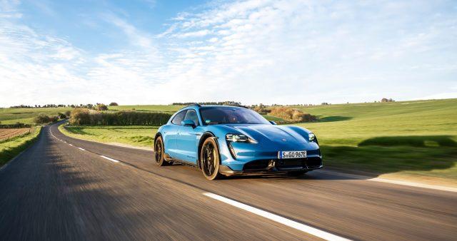 Porsche Taycan Cross Turismo on road