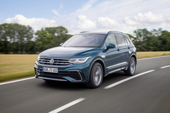 VW Tiguan on the road