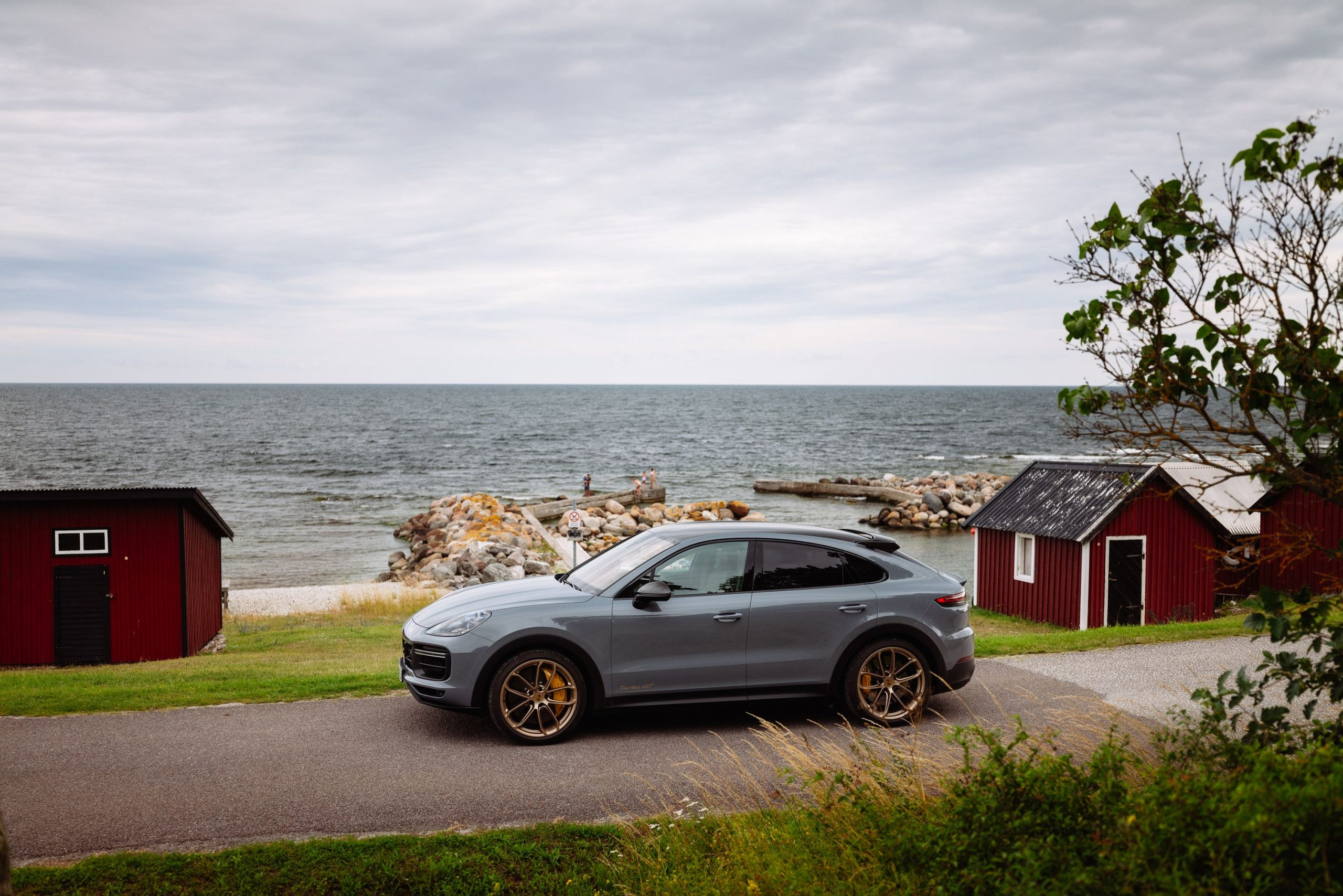 Porsche Cayenne Turbo GT beside the sea