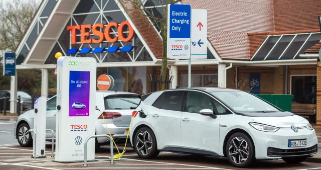 Tesco is the best supermarket for charging electric vehicles